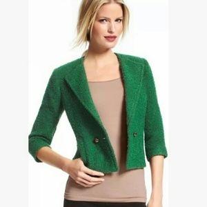CAbi green boulce jacket blazer #532